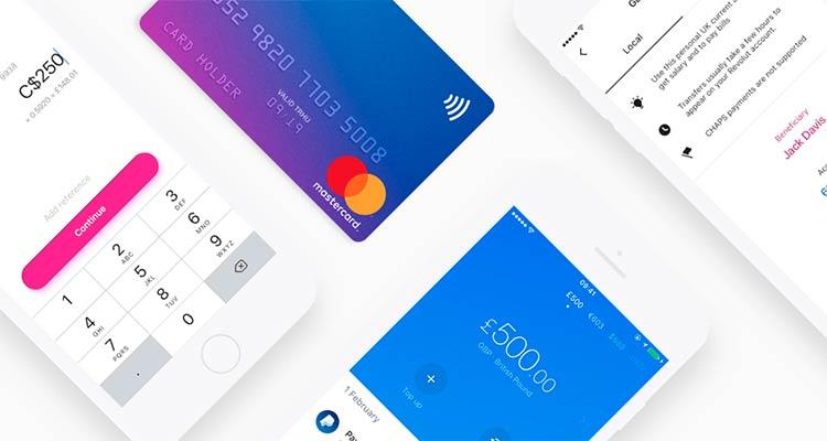 la carta revolut e gli screen della app